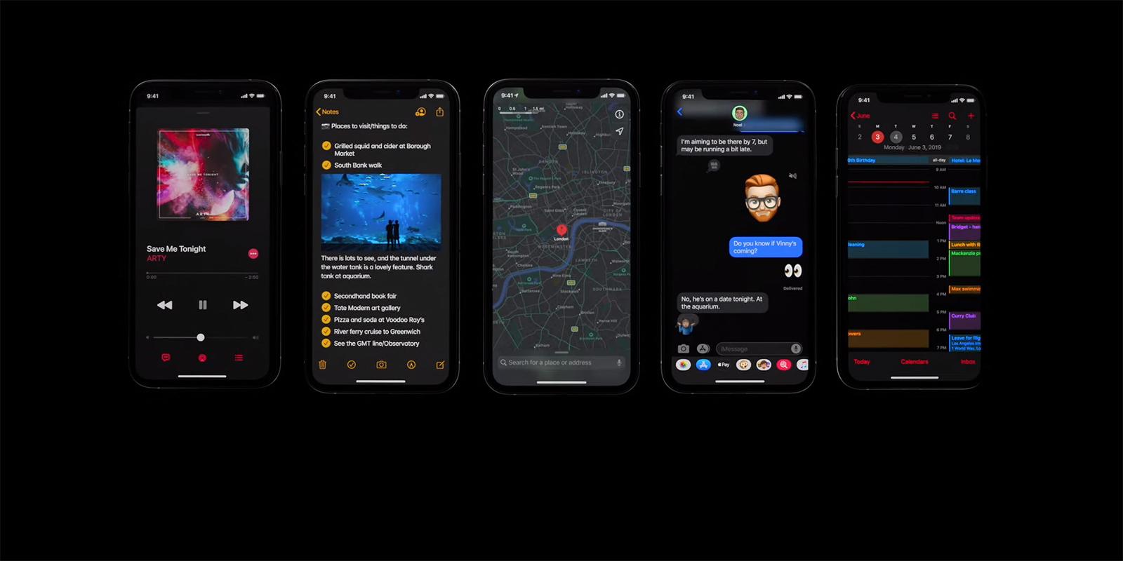 Apple анонсировала iOS 13 с тёмной темой и улучшенной производительностью