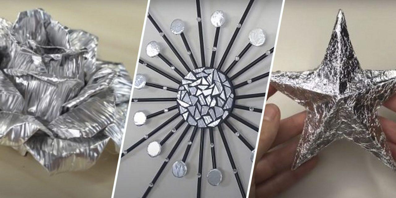 13 интересных поделок из фольги, которые легко сделать своими руками